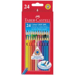 Faber-Castell színes ceruza 24db -os Grip 2001 Akvarell Környezetbarát ceruza 112424