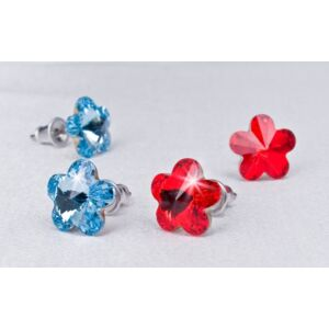 Swarovski fülbevaló Hölgyeknek virág formájú, aquakék 10mm MADE WITH SWAROVSKI ELEMENTS