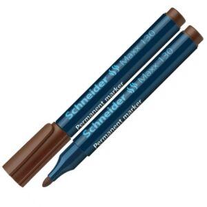 Alkoholos marker Schneider Maxx 130 1-3mm kúpos hegyű barna Írószerek SCHNEIDER 113007