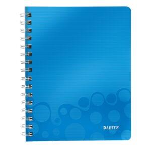 Spirálfüzet A5 Leitz WOW A5, vonalas, kék