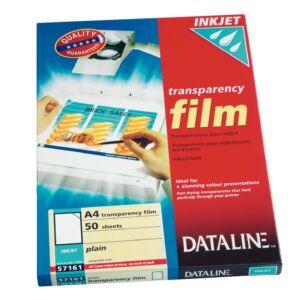 Írásvetítő fólia Dataline tintasugaras nyomtatóhoz Esselte 1cso rendelési egység ár 50db-ra