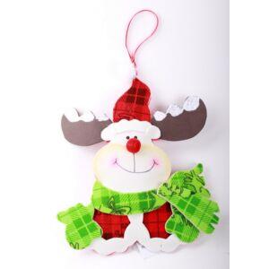 Karácsonyi dekor foamszarvas 18cm akasztható