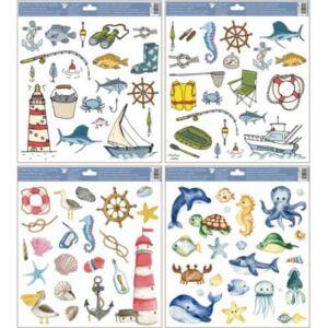 Ablakmatrica tengeri állatok 30x33,5cm