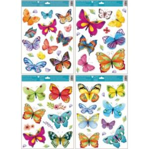 Ablakmatrica pillangók 30x42cm