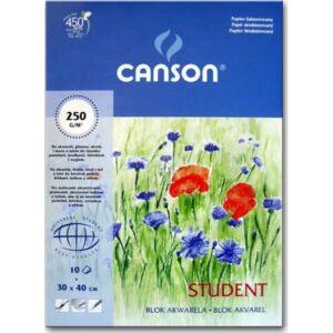 Akvarell blokk A4 Canson 250g/m2 10ív iskolai Akvarell iskolaszezonos termék