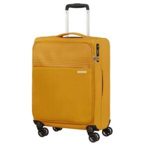 American Tourister kabinbőrönd Lite Ray 55/20 TSA FELT 131780/1371 Arany sárga, 4 kerekű, texti