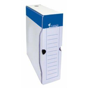 Archiváló doboz A4 Victoria 80mm kék-fehér karton Iratrendezés Victoria 24778