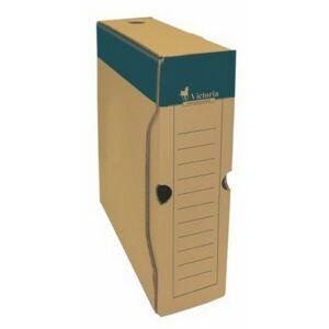 Archiváló doboz A4 Victoria 80mm natúr karton Iratrendezés Victoria 38063