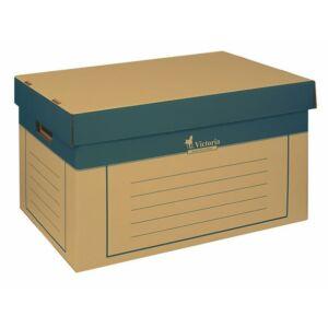 Archiváló konténer Victoria 320x460x270mm natúr karton 2db-os Iratrendezés Victoria 38074