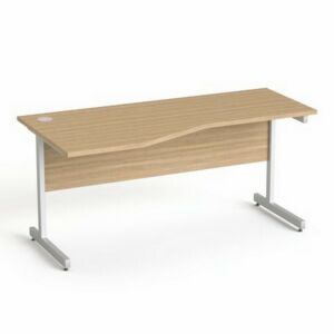 Asztal Irodai Mayah Freedom SV-30 kőris fémlábbal 160x80 cm,balos