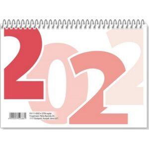 Asztali naptár 1 TA/23 2022 hátlap nélküli hagyományos naptár magyar névnapokkal