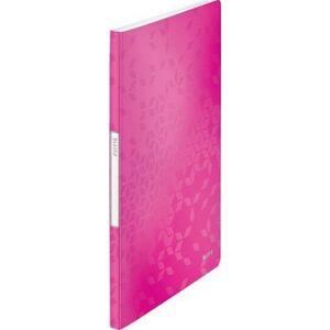 Bemutatómappa A4 Leitz 20 zsebes Wow, rózsaszín Iratrendezés, archiválás