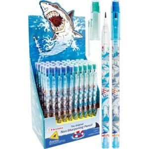 Bensia toLóbetétes ceruza radíros PAEP720 Shark Cápa mintás különféle cápafajok képével