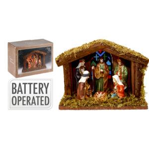 Betlehem jászol 6 figurával