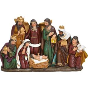 Betlehemi nagy család 20' 36x23x8cm kisjézussal kézzel festett exkluzív különleges termék