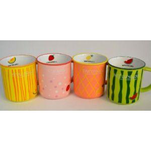 Bögre kerámia gyümölcsös 4féle színben és mintával kapható vidámság mindennapra