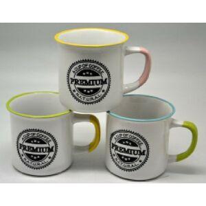 Bögre kávés porcelán 300ml PREMIUM mintás zománcozott 250717