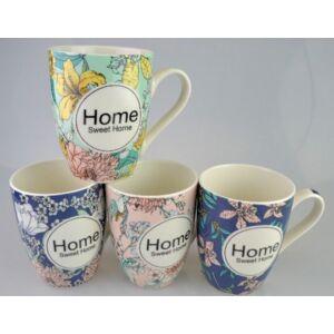 Bögre kerámia Romantic Home Home Sweet Home feliratos virág mintás 253130