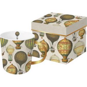 Bögre porcelán 350ml Mongolfie mintában megegyezző díszdobozzal Tassotti design O603467