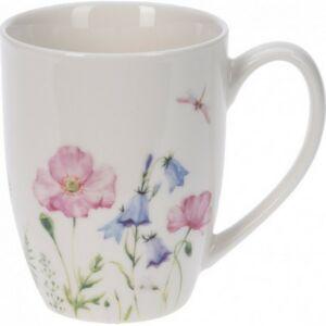 Bögre porcelán 350ml virágmintás