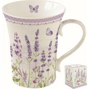 Bögre porcelán 360ml dobozban, Lavender Field