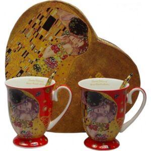 Bögre porcelán Klimt 300ml 2db-os páros szett piros
