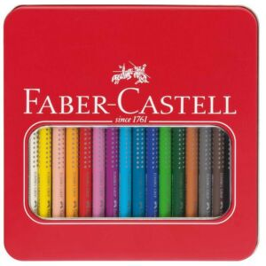 Faber-Castell színes ceruza 16dbdb Grip Jumbo Aqarell színes cer fém betekintő ablakos dobozban 110916