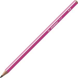 Ceruza HB Stabilo Trio háromszögletű vékony - rózsaszín Stabilo grafitceruza 369/01-HB