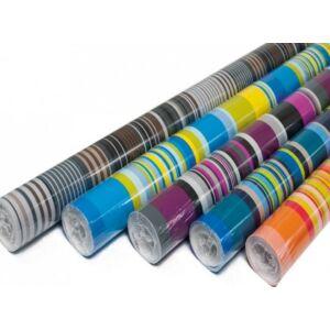Csomagoló tekercses 70cmx2m vegyes csíkos minta (1ív/tekercs) 0928-0013