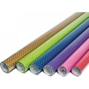Csomagoló tekercses 70cmx2m vegyes pöttyös minta (1ív/tekercs) 0928-0011
