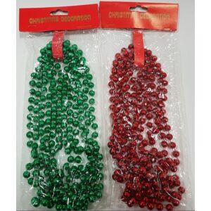 Dekor gyöngy girland fűzér vegyes metál és gyönyházfényű színekben 8mm-es gyöngyátmérő