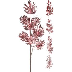 Dekor virág metál színben burgundi 4 féle mintával