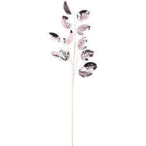 Dekor virág pick 67cm pink leveles ág