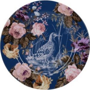 Desszertes tányér porcelán Katie Alice Navy Birds, Wild Apricity, 190x15x190mm 5234510