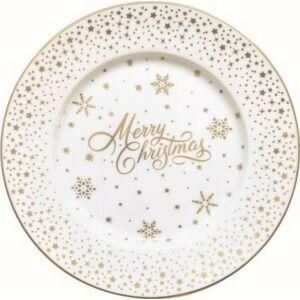 Desszerttányér porcelán 19cm, Golden Christmas