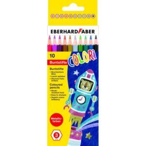 Eberhard Faber színes ceruza 10db-os metál E514808