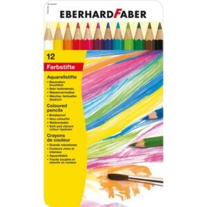 Eberhard Faber színes ceruza 12db Akvarell fém dobozban E516013