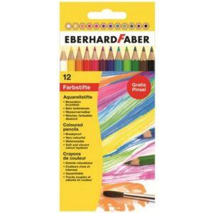 Eberhard Faber Színes ceruza 12db Akvarell +ecset E516012