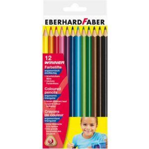 Eberhard Faber Színes ceruza 12db háromszögletű Eberhard Faber E511412