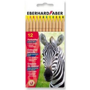 Eberhard Faber Színes ceruza 12db natúr fatest E515612