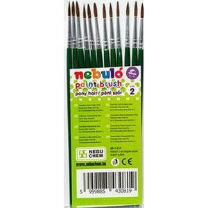 Ecset No.2 Nebulo kerek festett fanyél, hegyes, póniszőr Iskolaszerek Nebulo HE-1-2-F