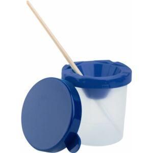 Ecsettál fedéllel Műanyagfedeles ecsettál iskolaszer- tanszer
