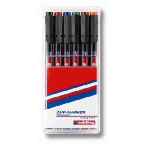 Edding 140S 6  készlet OHP permanent alkoholos marker 0,3mm