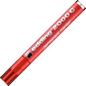 Edding 2000 piros permanent alkoholos marker 1,5-3mm filc, marker alkoholos marker