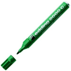 Edding 2000 zöld permanent alkoholos marker 1,5-3mm filc, marker alkoholos marker