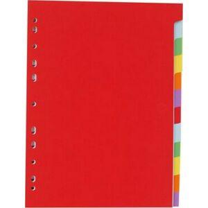 Elválasztó regiszter 12részes Victoria karton A4 színes Iratrendezés Victoria
