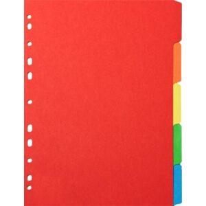 Elválasztó regiszter 6részes Victoria karton A4 színes Iratrendezés Victoria