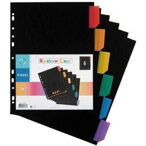 Elválasztó regiszter 6részes VIQUEL Rainbow Class PP, A4 Maxi, színes Iratrendezés VIQUEL 157067-06