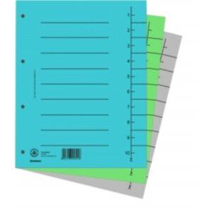 Elválasztó regiszter A4 Donau karton rózsaszín 100ív/csom Iratrendezés DONAU 8610001-16