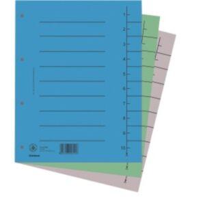 Elválasztó regiszter A4 Donau karton szürke 100ív/csom Iratrendezés DONAU 8610001-13
